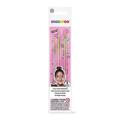 Snazaroo - Set de 3 pinceles de pintura facial