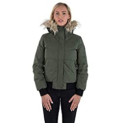 Waterproof up to 10,000mm; Breathable up to 5,000mvp; Windproof Hydrophobic Down Insulation 90% Down/10% Feathers Removable Hood with Removable Fake Fur Trim 2 Zip Pockets