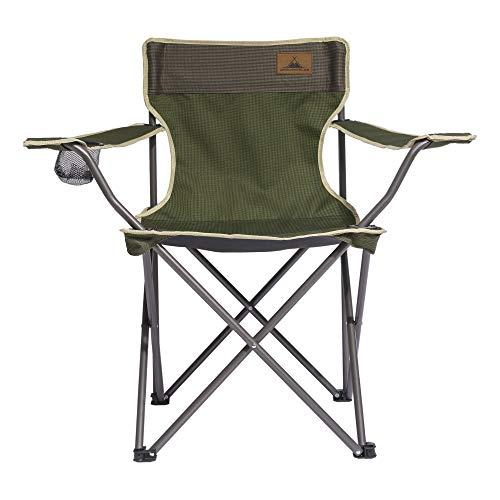 WANDERFALKE Campingstuhl (Herbstgrün) Campingstuhl Faltstuhl Campingstuhl faltbar Anglerstuhl klappbar Picknickstuhl klappbar Campingstuhl