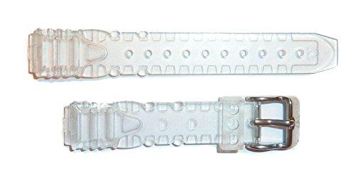 Technomarine 13mm gel orologio da polso in plastica trasparente con logo argento Technomarine fibbia in acciaio inossidabile