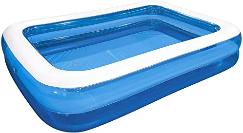 ADEPTNA Durable Large Rectangular Family Swimming Pool Garden Summer Inflatable Paddling Pool Perfect for Kids Family Adults (79