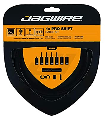 Jagwire Pro Unisex Adult Cables and Sheaths, Black, One Size