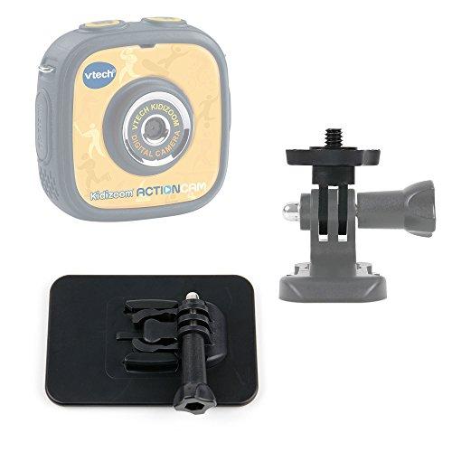 DURAGADGET Soporte con Adhesivo Compatible con La cámara de Fotos y vídeo Kidizoom Action CAM de VTech + Adaptador con Tornillo 1/4