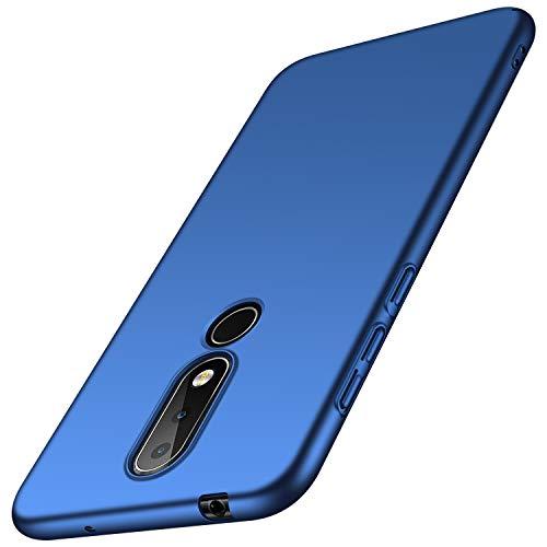 anccer Cover Nokia 6.1 Plus [Serie Colorato] di Gomma Rigida Protezione da Cadute e Urti Nokia 6.1 Plus (Azzurro Liscio)