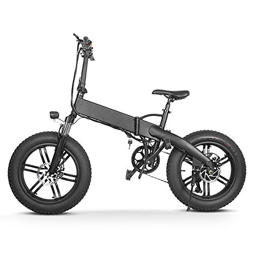 Bicicleta Eléctrica, Bicicleta De Nieve De Montaña Tres En Uno De 7 Velocidades, Bicicleta Eléctrica Plegable De 20 Pulgadas Para Desplazarse Hacia Y Desde Adultos Jóvenes (entregada Desde La Ue)