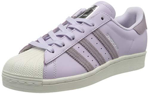 adidas Women's Superstar W Sneaker, Purple Tint/Legacy Purple/Off White, 3.5 UK
