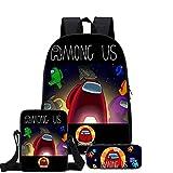 Mochila Among us werewolf espacio, tres piezas, ideal para escuela, mochila, bolsa bandolera y...