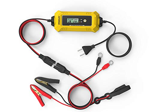 Stanley 201870 - Cargador de batería, microprocesador Inteligente, 4 A, 6 V-12 V-EU Plug, 4 A-6 V, 12 V