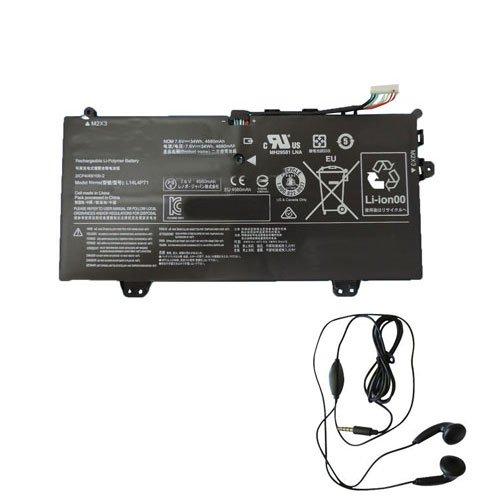 Amsahr L14L4P71-03 - Batería de reemplazo para Lenovo L14L4P71, Yoga 3 Pro 11 80J80021US (Incluye Auricular estéreo) Color Gris