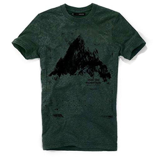 DEPARTED Herren T-Shirt mit Print/Motiv 3854-290 - New fit Größe L, Cedar Forest Green Melange
