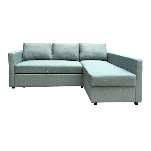 Furniture 247 3-Sitzer L-förmige Schlafcouch