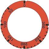 Lotus - Símbolo para BRF-78ET, BRF-98ET, FTR-6EM, FTR-4EMS para termostato (50-300 °C, exterior 64 mm, diámetro interior 45,5 mm), color rojo