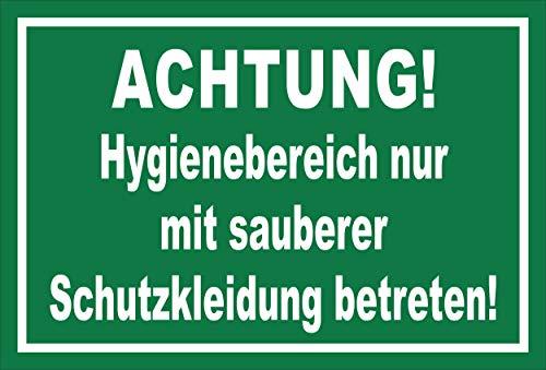 Melis Folienwerkstatt Schild Hygienebereich - 15x10cm - 3mm Aluverbund – 20 VAR S00225-009-G