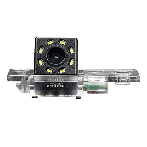 Cámara de marcha atrás HD 720p en placa de matrícula luz cámara de respaldo para Audi A3 8P 8V S3 A4 B6 B7 B8 S4 A6 C6 S6 RS6 A8 RS4 TT 8N Q3 Q5 Q7 (A= estilo de tornillo)