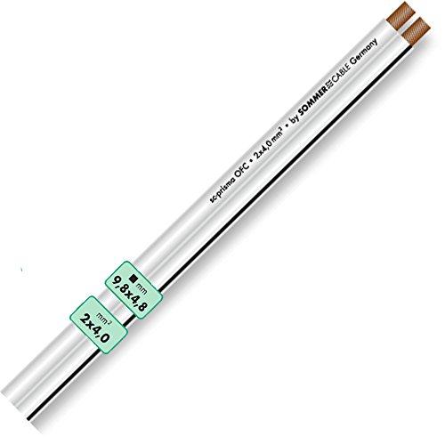 SOMMER CABLE SC PRISMA OFC weiß Lautsprecherkabel flexibel | (10m, 2 x 4,0 mm² - weiß)