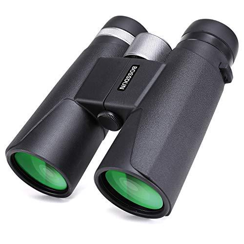 Prismáticos Profesionales, 12x42 Binoculares Compactos para Adultos,Ideales para Caza, Astronomía, Observación de Aves y Camping, Incluye Funda, Correa y Gamuza