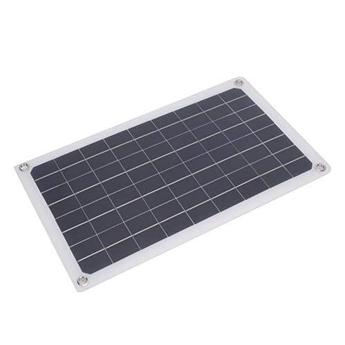 Qqmora Cargador de energía Solar Ligero de 20 W, módulo de Panel de células solares, Cargador, Panel de Cargador Solar de energía USB portátil para Luces de Emergencia