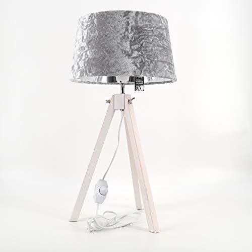 dasmöbelwerk Tripod Tischlampe Stativ Leuchte Dreibein Lampe dimmbar Landhaus E27 LED 640790W