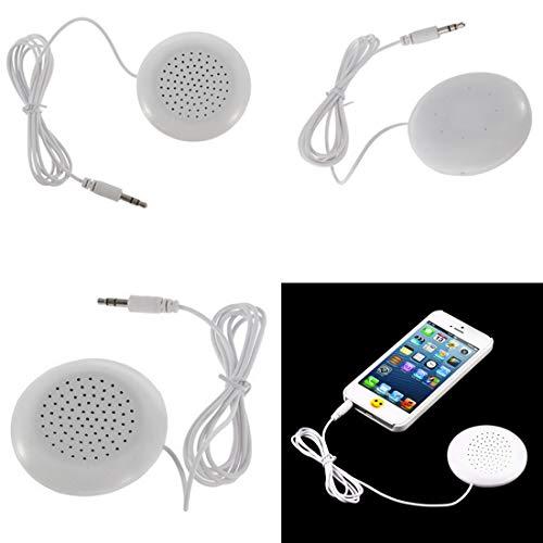 NoyoKere Tragbarer 3,5 mm Kissenlautsprecher für MP3 / MP4 / CD/iPod/Telefon Weißer Mini Lautsprecher