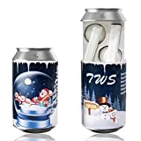 Stocking Stuffer, True Wireless Stereo in-Ear Headphones and Mic, Universally Compatible (Automatic Pairing) - HD Binuaral Hybrid Stereo Drivers with Soda Can Charging Case, White