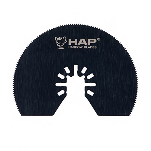 Great Deal! Harpow 10 pieces HSS half moon circular,power oscillating tool blades,multitool blades,p...