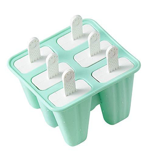 Gesh Moldes de silicona para helados, 6 piezas, sin BPA, reutilizables, fácil de liberar
