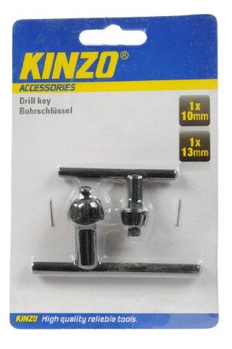 Kinzo 72041 - Taladro llave tirada 10/13 mm 2 piezas