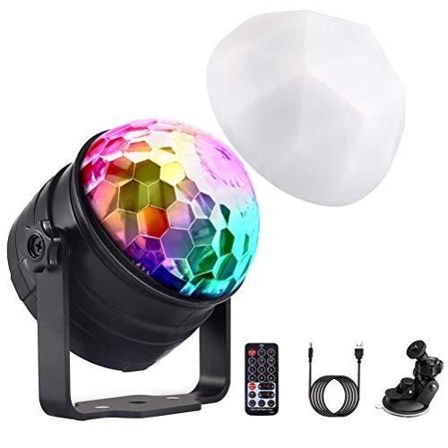 Likey LED Discokugel, Sound aktiviert,Nachtlichtmodus,360°Rotierenden Beleuchtungseffekt,7 Modi RGB LED für Kinder, Zimmer, Party Weihnachten