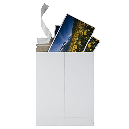 Quality Park Extra-Rigid Fiberboard Photo/Document Mailers, 9 x 11.5 Inches, Box of 25 (64014),White