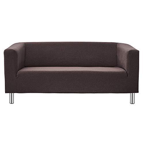 Panana 2 Seater Sofa Or 3 Seater Sofa Compact Sofa Corner Sofa for Living Room Flat Modern Simple Design Sofa with Chrome Legs (Brown, 3 Seater)