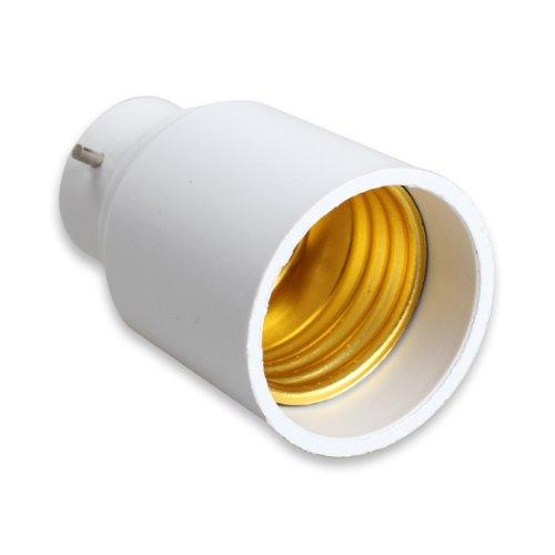 Demiawaking B22 Vers E27 Led Halogène Cfl Lumière Base Ampoule Lampe Adaptateur Convertisseur Socket