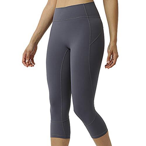 Leggings Damen 3/4 Yoga Fitnesshose High Waist Push-Up Anti Cellulite Sporthose Damen Sport Leggings Nahtlose Blickdicht Yoga Hose Stretch Lauf Workout Fitness Jogginghose...