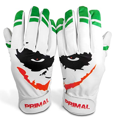 "Primal Baseball ""SMILEY"" Baseball Batting Gloves (Adult Size Small)"