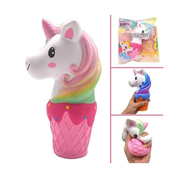 YXJC Fun Toys Squishies, Unicorn ice Cream Squishy, Creamy Aroma Slow Rising Squeeze Toys for Stress Relief (Color : Starry Sky) 7