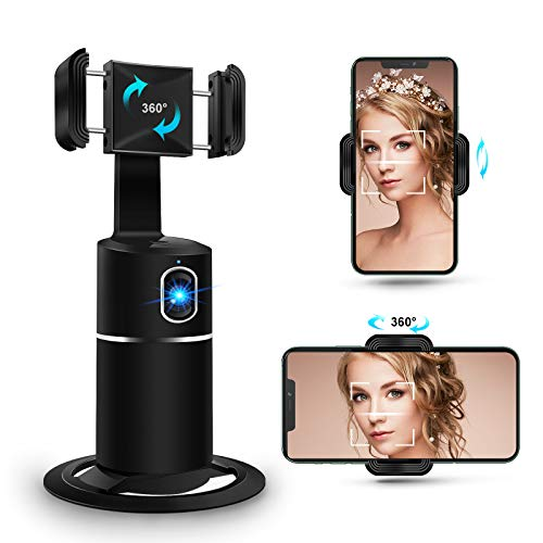 Selfie Stick Phone Tripod Holder Fast 360° Auto Face Tracking Camera Gimbal Stabilizer for TikTok Vlog Youtuber Livestream,Phone Holder Compatible for iPhone 12/12PRO/11/XS/XR/X/8P/7P