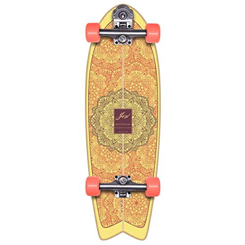 YOW Huntington Beach 30' High Perfomance Series Surfskate Skateboard, Adultos Unisex, Multicolor (Multicolor)