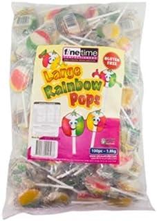 Finetime Rainbow Lollipop, 100 Count