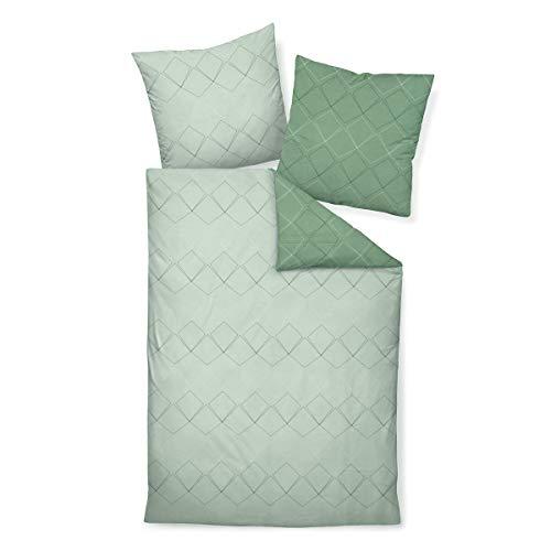 Janine Design Mako-Satin Bettwäsche J.D. 87053-06 1 Bettbezug 240 x 220 cm + 2 Kissenbezüge 80 x 80 cm