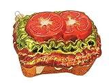Sandwich Open Face BLT Bacon Lettuce Tomato Food Polish Glass Christmas Ornament Decoration