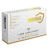 IMMUNAID® | Difese Immunitarie | 9 ingredienti per rinforzare Sistema Immunitario tra cui: Echinacea | Pappa Reale | Propoli | Reishi | Fermenti Lattici | Vitamina C | 30 Compresse naturali