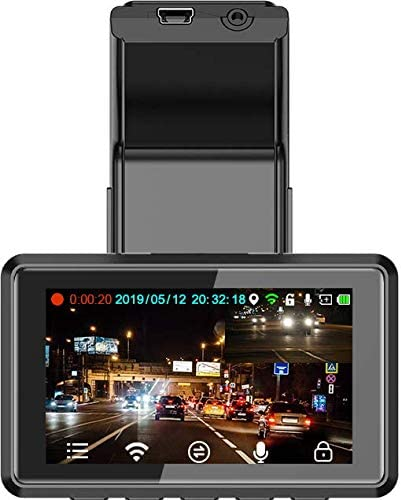 high quality Dual online sale Dash Cam WiFi 3 Inch LCD Dashboard Camera Full HD 1080P 2021 150° Wide Angle, G-Sensor, Night Vision, Parking Monitor, Loop Recording, Super Capacitor, GPS Track sale