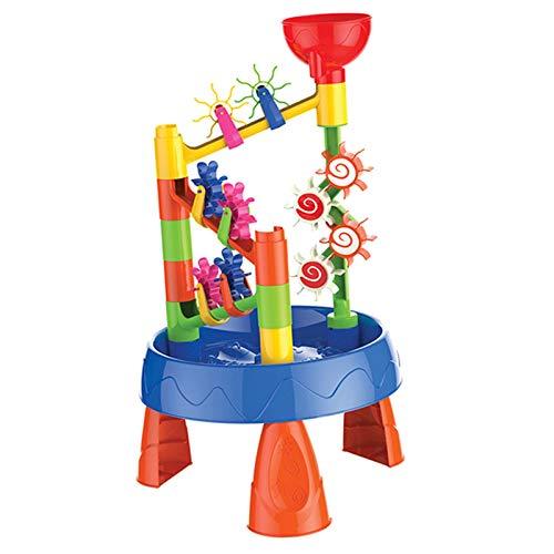 bozitian Juguetes de agua para niños, juguetes para la bañera o la caja de arena, seguros y portátiles, fomentan el juego creativo