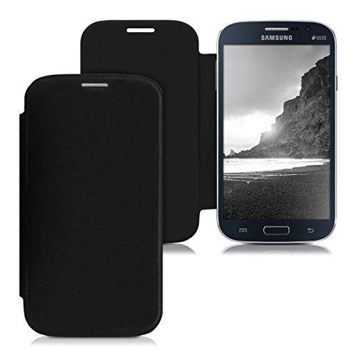 kwmobile Flip Case Hülle für Samsung Galaxy Grand Neo/Duos - Aufklappbare Schutzhülle Tasche im Flip Cover Style in Schwarz