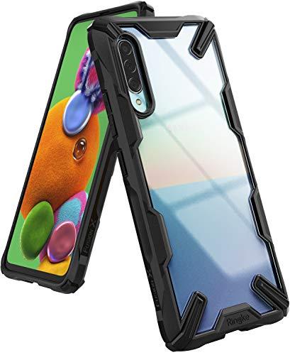 Ringke Fusion-X fürs Samsung Galaxy A90 5G Hülle, Transparente Kratzfeste Rückseite mit Flexibel TPU Stoßfester Rahmen Schutzhülle - Schwarz Black