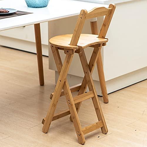 Folding chair Silla Plegable, Sillón Al Aire Libre, Cómoda, con Respaldo, Silla De Bambú, Adecuada para Balcón, Cocina (Color : Wood Color)
