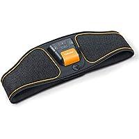 Beurer EM 37 Electroestimulador EMS Cinturón Abdominal,5 programas de entrenamiento, 4 electrodos agua sin necesidad de geles ni recambios, pantalla LCD, 70-140cm cintura