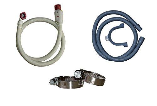 Anschluss-Set Aquastop Schlauch/Aquastop und Ablaufschlauch für Waschmaschine und Geschirrspüler, 3m