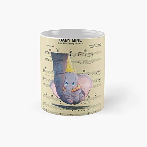 Taza de café de Baby Mine con letra de la canción Dumbo clásica, el mejor regalo divertido tazas de café de 325 ml