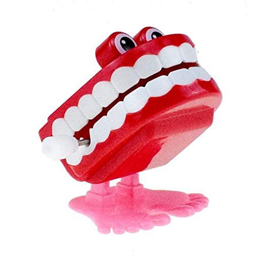 D.ragon Blendendes Spielzeug Wind Up Walking Plappern Klappern Zähne Spielzeug Hüpfende Klappergebisse Scherzartikel Laufendes Gebiss/Zähne Für Kinder Kinder Bildung Werkzeuge