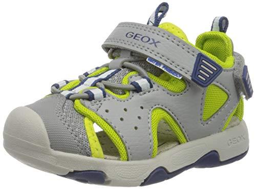 Geox Baby Jungen B Multy Boy A Sandalen, Grau (Grey/Lime Green C1172), 22 EU